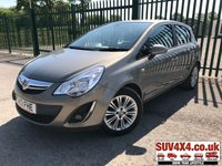 USED 2013 13 VAUXHALL CORSA 1.2 SE 5d 83 BHP LOW MILEAGE LEATHER CRUISE AIR CON ALLOYS SERVICE HISTORY LOW MILEAGE. STUNNING BROWN MET WITH PART BLACK LEATHER TRIM. CRUISE CONTROL. 16 INCH ALLOYS. COLOUR CODED TRIMS. AIR CON. R/CD PLAYER. MFSW. MOT 04/20. SERVICE HISTORY. P/X CLEARANCE CENTRE LS23 7FQ TEL 01937 849492 OPTION 4