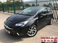 USED 2017 17 VAUXHALL CORSA 1.4 SRI VX-LINE ECOFLEX 3d 74 BHP AIR CON ALLOYS SERVICE HISTORY STUNNING BLACK MET WITH BLACK CLOTH TRIM. CRUISE CONTROL. 17 INCH ALLOYS. COLOUR CODED TRIMS. BLUETOOTH PREP. AIR CON. MEDIA CONNECTIVITY. MFSW. ONE PREV OWNER. SERVICE HISTORY. MOT 03/20. SUV4X4 USED CAR CENTRE LS23 7FR TEL 01937 849492 OPTION 1