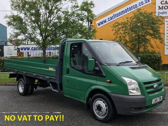2009 FORD TRANSIT 2.4 350EF LWB DROPSIDE [ NO VAT TO PAY ]13.5ft ALLOY BODY DRW  £6950.00