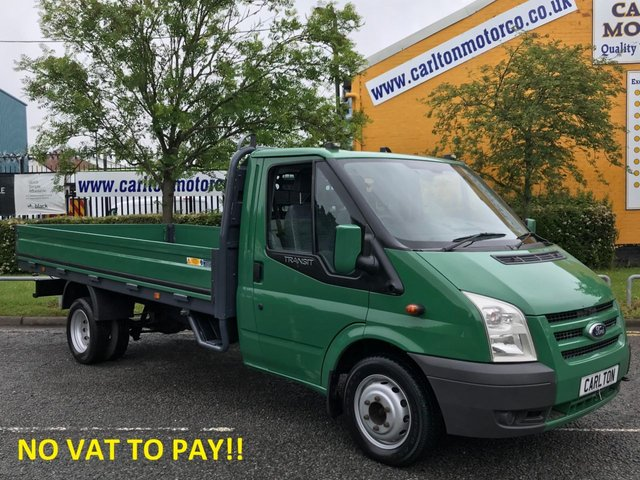 2009 59 FORD TRANSIT 2.4 350EF LWB DROPSIDE [ NO VAT TO PAY ]13.5ft ALLOY BODY DRW