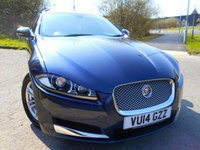 USED 2014 14 JAGUAR XF 2.2 D LUXURY SPORTBRAKE 5d AUTO 200 BHP **ESTATE , DIESEL ,AUTO, SATNAV, ALLOYS , FULL CREAM LEATHER **