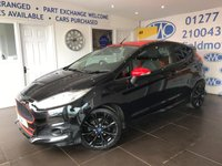 2016 FORD FIESTA 1.0 ZETEC S BLACK EDITION 3d 139 BHP £9500.00