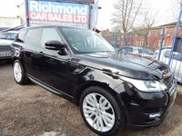 "USED 2016 16 LAND ROVER RANGE ROVER SPORT 3.0 SDV6 HSE DYNAMIC 5d AUTO 306 BHP 21"" ALLOYS, BIG SPEC CAR"