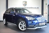 """USED 2015 11 BMW X1 2.0 XDRIVE18D XLINE 5DR AUTO 141 BHP full bmw service history *NO ADMIN FEES* FINISHED IN STUNNING DEEP SEA METALLIC BLUE WITH FULL LEATHER INTERIOR + FULL BMW SERVICE HISTORY + BLUETOOTH + DAB RADIO + ECO PRO + RAIN SENSORS + X-LINE + AUTO AIR CON + FOG LIGHTS + PARKING SENSORS + 18"""" ALLOY WHEELS"""