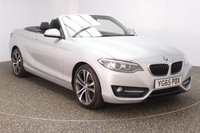 USED 2015 65 BMW 2 SERIES 2.0 220D SPORT 2DR 188 BHP FULL SERVICE HISTORY FULL SERVICE HISTORY + HEATED SEATS + SATELLITE NAVIGATION + PARKING SENSOR + BLUETOOTH + CRUISE CONTROL + MULTI FUNCTION WHEEL + CLIMATE CONTROL + XENON HEADLIGHTS + DAB RADIO + 18 INCH ALLOY WHEELS