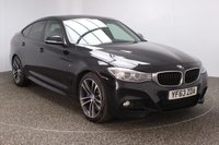 USED 2013 63 BMW 3 SERIES GRAN TURISMO 2.0 325D M SPORT GRAN TURISMO 5DR AUTO 215 BHP FULL SERVICE HSITORY FINISHED IN A STUNNING BLACK SAPPHIRE METALLIC + FULL SERVICE HISTORY + HEATED LEATHER SEATS + SATELLITE NAVIGATION + HARMAN/KARDON SOUND SYSTEM + PARKING SENSOR + PANORAMIC ROOF + BLUETOOTH + CRUISE CONTROL + CLIMATE CONTROL + MULTI FUNCTION WHEEL + XENON HEADLIGHTS + DAB RADIO + ELECTRIC WINDOWS + 19 INCH ALLOY WHEELS