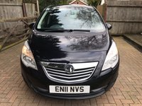 USED 2011 11 VAUXHALL MERIVA 1.7 SE CDTI 5d AUTO 99 BHP AUTOMATIC DIESEL WITH GREAT SPEC !!!