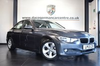 """USED 2013 13 BMW 3 SERIES 2.0 320D EFFICIENTDYNAMICS 4DR 161 BHP full service history *NO ADMIN FEES* FINISHED IN STUNNING MINERAL METALLIC GREY WITH CLOTH UPHOLSTERY + FULL SERVICE HISTORY + FULL SERVICE HISTORY + PRO SATELLITE NAVIGATION + BLUETOOTH + DAB RADIO + RAIN SENSORS + AUTO AIR CON + FOG LIGHTS + PARKING SENSORS + 16"""" ALLOY WHEELS"""