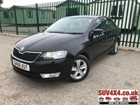 USED 2016 66 SKODA RAPID 1.4 SE TDI 5d 89 BHP ALLOYS ONE OWNER BLACK WITH BLACK CLOTH TRIM. CRUISE CONTROL. 15 INCH ALLOYS. COLOUR CODED TRIMS. BLUETOOTH PREP. AIR CON. TRIP COMPUTER. R/CD PLAYER. MFSW. ONE OWNER FROM NEW. SERVICE HISTORY. SUV & 4X4 CAR CENTRE LS23 7FR. TEL 01937 849492 OPTION 2