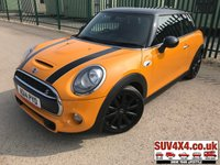 USED 2014 14 MINI HATCH COOPER 2.0 COOPER S 3d 189 BHP BODYKIT LEATHER BODYKIT. STUNNING ORANGE MET  WITH PART BLACK LEATHER SPORT TRIM. CRUISE CONTROL. 17 INCH ALLOYS. COLOUR CODED TRIMS. BLACK ROOF. BLUETOOTH PREP. CLIMATE CONTROL WITH AIR CON. TRIP COMPUTER. R/CD PLAYER. 6 SPEED MANUAL. MFSW. MOT 04/20. SERVICE HISTORY. SUV & 4X4 CAR CENTRE LS23 7FR. TEL 01937 849492 OPTION 2