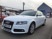 USED 2012 61 AUDI A4 2.0 TDI TECHNIK 4d 134 BHP White, leather, sat/nav, alloys, economical, superb,