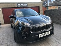 USED 2016 16 KIA SPORTAGE 1.7 CRDI 2 ISG 5d 114 BHP 1 OWNER. FULL HISTORY. £30 ROAD TAX. 4YRS MANUFACTURERS WARRANTY REMAINING.