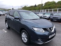 USED 2016 16 NISSAN X-TRAIL 1.6 DCI ACENTA 5d 130 BHP Dark Blue Metallic, full glass panoramic sunroof