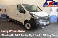 2016 VAUXHALL VIVARO 1.6 2900 CDTI 115 BHP, Long Wheel Base, Bluetooth, DAB Radio, Ply Lined, 1 Sliding Door £8980.00