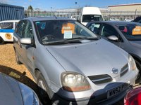 USED 2002 52 NISSAN ALMERA 1.8 TINO SE 5d 111 BHP Sold as spares and repairs due to noisy duel mass flywheel    mot until 13th November 2019 noisy flywheel sold as spares & repairs no warranty given 01536 402161