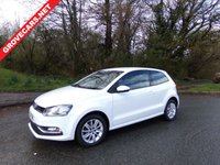 USED 2016 16 VOLKSWAGEN POLO 1.0 SE 3d 60 BHP TWO KEYS MOT 9 MARCH 2020 SERVICE HISTORY FULL SIZE SPARE WHEEL BLUE TOOTH ALLOY WHEELS