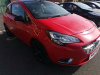 USED 2017 17 VAUXHALL CORSA 1.4 SRI ECOFLEX 3d 74 BHP BLACK ALLOY WHEELS AND MATCHING ROOF! LOW CO2!  £30 a year road tax, Low insurance and running costs, Intelilink touch screen, Bluetooth, Cruise control, Heated front screen, Media input, Alloy wheels, Air con, All our cars meet large city emission standards!