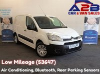 2013 CITROEN BERLINGO 1.6 625 ENTERPRISE HDI, 3 Seats, Low Mileage (53647) Air Conditioning, Bluetooth, Rear Parking Sensors £4980.00