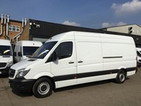 USED 2015 15 MERCEDES-BENZ SPRINTER 2.1 313CDI LWB HIGH ROOF 130BHP. AIRCON. F/S/H. 1 OWNER. PX AIR CON. F/S/H. LOW FINANCE. 1 OWNER. PX WELCOME