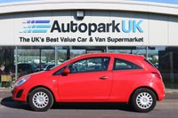 USED 2012 VAUXHALL CORSA S ECOFLEX - 998CC LOW DEPOSIT OR NO DEPOSIT FINANCE AVAILABLE