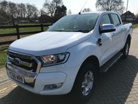 USED 2016 66 FORD RANGER 2.2 LIMITED 4X4 DCB TDCI 1d AUTO 158 BHP