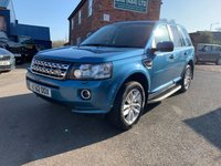 USED 2012 62 LAND ROVER FREELANDER 2.2 TD4 XS 5d 150 BHP Stunning example One owner in MAURITIUS BLUE Full Land Rover Service History.