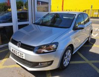 USED 2013 63 VOLKSWAGEN POLO 1.2 MATCH EDITION TDI 5d 74 BHP/ PARKING SENSORS/ FULL SERVICE HISTORY (7 Services in a book; 6 Services by Main Dealer, + many receipts) Last Service 07/09/2018 @64'622 mileage,  1 Year MOT, Road Tax £20 annual, Warranty, 2 Keys, Spare Wheel, HPI Cleared.