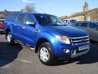 USED 2012 61 FORD RANGER 3.2 LIMITED 4X4 DCB TDCI 4d 197 BHP LOW MILAGE & SERVICE HISTORY