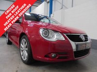 """USED 2010 10 VOLKSWAGEN EOS 2.0 SE TDI 2d 138 BHP Full Service History inc Cambelt Change, Heated Leather Seats, Rear Parking Sensors, Panoramic Glass Roof, Cruise Control, Auto Lights and Wipers, Remote Central Locking with 2 Keys, Power Folding Mirrors, Electric Windows and Mirrors, Air Conditioning, 17"""" Alloys"""
