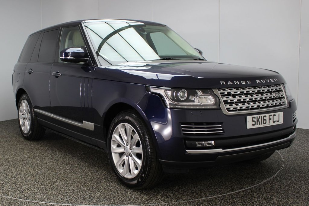 USED 2016 16 LAND ROVER RANGE ROVER 3.0 TDV6 VOGUE SE 5DR AUTO FULL HISTORY SAT NAV 1 OWNER  FULL SERVICE HISTORY + 1 OWNER + HEATED/COOLED LEATHER SEATS + SATELLITE NAVIGATION + PANORAMIC SLIDING SUNROOF + DUAL VIEW TOUCH SCREEN + HEATED STEERING WHEEL + DEPLOYABLE SIDE STEPS + REVERSE CAMERA + BLUETOOTH + PARKING SENSOR + PRIVACY GLASS + MEMORY/ELECTRIC SEATS + XENON HEADLIGHTS + DAB RADIO + DVB-T TUNNER + 20 INCH ALLOY WHEELS