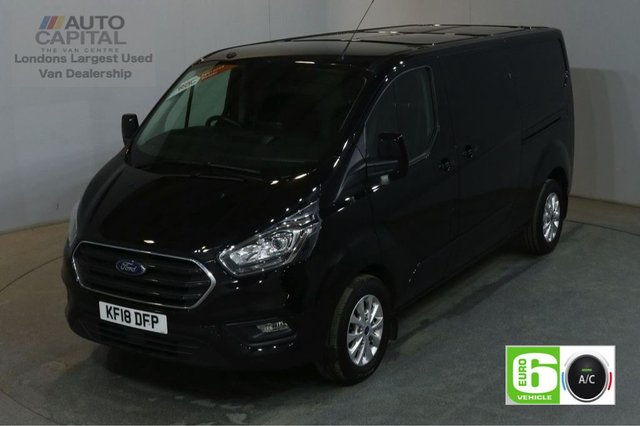2018 18 FORD TRANSIT CUSTOM 2.0 300 LIMITED L2 H1 AUTO 130 BHP LWB AIR CON EURO 6 START STOP AIR CONDITIONING EURO 6 LTD