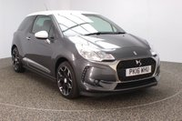 USED 2016 16 DS DS 3 1.2 PURETECH ELEGANCE S/S 3DR 109 BHP FREE ROAD TAX FINISHED IN A STUNNING SHARK GREY METALLIC + FREE 12 MONTHS ROAD TAX + BLUETOOTH + AIR CONDITIONING + DAB RADIO + MULTI FUNCTION WHEEL + RADIO/CD/AUX/USB + ELECTRIC WINDOWS + ELECTRIC MIRRORS + 17 ALLOY WHEELSS