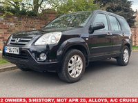 USED 2006 56 HONDA CR-V 2.0 I-VTEC EXECUTIVE 5d 148 BHP 2 OWNERS, EXCELLENT SERVICE HISTORY, MOT MAR 20, EXCELLENT CONDITION, ALLOYS, AIR CON, CRUISE, FOGS, RADIO CD, E/WINDOWS, R/LOCKING, FREE WARRANTY, FINANCE AVAILABLE, HPI CLEAR, PART EXCHANGE WELCOME,