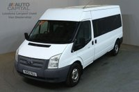 USED 2012 12 FORD TRANSIT 2.2 350 14 STR 134 BHP LWB M/ROOF RWD MINIBUS BLUETOOTH CRUISE CONTROL FULL S/H