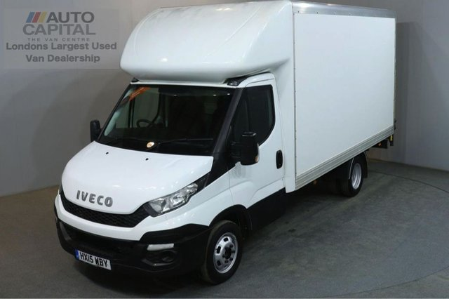 2015 15 IVECO DAILY 2.3 35C13 126 BHP LWB RWD TWIN WHEEL LUTON WITH TAIL LIFT REAR BOX LENGTH 13 FOOT