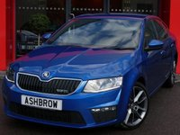USED 2016 16 SKODA OCTAVIA 2.0 TDI VRS  DSG 5d AUTO 185 S/S 1 OWNER FROM NEW, FULL SERVICE HISTORY, BALANCE OF SKODA WARRANTY, BLUETOOTH W/ AUDIO STREAMING, CRUISE, USB + AUX IN, 18 INCH 2 TONE SPLIT 5 SPOKE VRS ALLOYS, DRIVING MODE SELECTION, REAR PARKING SENSORS W/ DISPLAY, BI-XENONS W/ LED DRL, CARBON FINISH DOOR TRIMS, LANE ASSIST SYSTEM, VOICE COMMAND, LEATHER MULTI FUNCTION STEERING WHEEL W/ VRS BADGE, ALUMINIUM FOOT PEDALS, TWIN CHROME EXHAUSTS, FRONT + REAR LEATHER ARM RESTS, COLOUR CODED FLOOR MATS, START STOP TECHNOLOGY, VAT QUALIFYING.