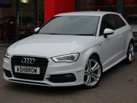 USED 2016 16 AUDI A3 1.6 TDI S LINE NAV 3d 110 S/S £1635 OF OPTIONAL EXTRAS, UPGRADE FULL BLACK FINE NAPPA LEATHER INTERIOR, UPGRADE PRIVACY GLASS, SAT NAV, LED XENON LIGHTS, DAB RADIO, BLUETOOTH PHONE & MUSIC STREAMING, AUDI MUSIC INTERFACE, 18 INCH 10 SPOKE ALLOYS, SPORT SEATS, LEATHER FLAT BOTTOM MULTI FUNCTION STEERING WHEEL, DUAL CLIMATE AIR CON, LEATHER FRONT ARM REST, AUDI DRIVE SELECT, ILLUMINATING VANITY MIRRORS, CD HIFI WITH SD CARD READERS, ELECTRIC WINDOWS, ELECTRIC HEATED MIRRORS, ISO FIX, FULL SERVICE HISTORY, 1 OWNER, £20 ROADTAX