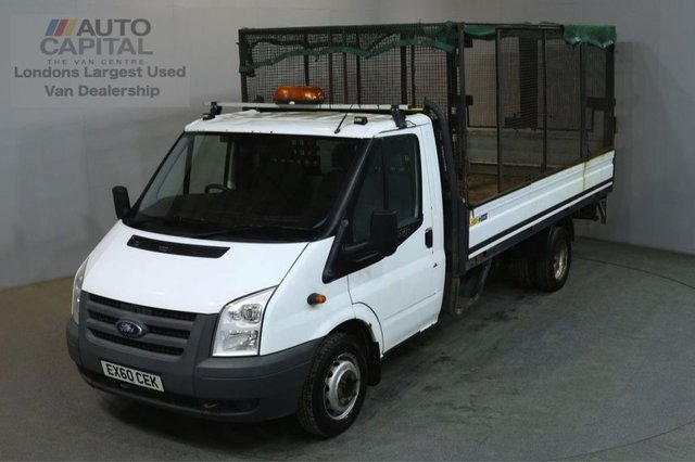 2010 60 FORD TRANSIT 2.4 350 115 BHP EXTRA LWB TWIN WHEEL DROPSIDE LORRY TAIL LIFT BED LENGTH 13 FOOT FULL S/H