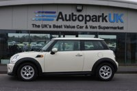 USED 2012 12 MINI HATCH COOPER 1.6 COOPER D 3d 112 BHP LOW DEPOSIT OR NO DEPOSIT FINANCE AVAILABLE