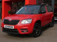 USED 2015 15 SKODA YETI 2.0 TDI CR MONTE CARLO 5d 170 4x4 UPGRADE AMUNDSEN SAT NAV, UPGRADE DAB DIGITAL RADIO, UPGRADE VOICE CONTROL, UPGRADE USB CONNECTION, 4 WHEEL DRIVE 4X4, FULL MONTE CARLO BODY KIT, LED XENON LIGHTS, HEADLAMP WASHERS, FRONT FOG LIGHTS, 17 INCH 10 SPOKE ALLOY WHEELS, BLACK ROOF & DOOR MIRRORS & GRILLE OPTIC, BLACK ROOF RAILS, REAR PARK PILOT WITH DISPLAY, BLACK CLOTH INTERIOR, TINTED GLASS, SPORT SEATS, LEATHER FLAT BOTTOM MULTIFUNCTION STEERING WHEEL, LIGHT & RAIN SENSORS, CRUISE CONTROL, BLUETOOTH, SD CARD READERS, AUX, 1 OWNER