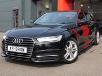 USED 2016 16 AUDI A6 SALOON 2.0 TDI ULTRA S LINE 4d AUTO 190 S/S £20 TAX, NEW SHAPE, 1 OWNER FROM NEW, FULL SERVICE HISTORY, SAT NAV, FULL BLACK LEATHER, DAB RADIO, BLUETOOTH PHONE & MUSIC STREAMING, AUDI MUSIC INTERFACE FOR IPOD / USB DEVICES (AMI), FRONT & REAR PARKING SENSORS W/ DISPLAY, LED LIGHTS, S TRONIC AUTOMATIC GEARBOX, HEADLAMP WASHERS, 18 INCH TWIN 5 SPOKE ALLOYS, S LINE BODY KIT, TWIN EXHAUST, CRUISE, SPORT SEATS W/ ELEC LUMBAR SUPPORT, LIGHT & RAIN SENSORS W/ AUTO DIMMING REAR VIEW MIRROR, AUTO HOLD, VAT QUALIFYING.