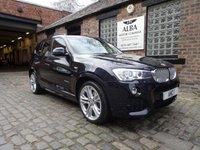 2014 BMW X3 3.0 XDRIVE35D M SPORT 5d AUTO 310 BHP £20995.00