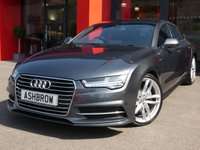 USED 2017 17 AUDI A7 SPORTBACK 3.0 TDI QUATTRO S LINE 5d AUTO 215 S/S 1 OWNER FROM NEW, FULL SERVICE HISTORY, SAT NAV, DAB, CRUISE, BLUETOOTH W/ AUDIO STREAMING, FRONT + REAR PARKING SENSORS W/ DISPLAY, FULL BLACK LEATHER, HEATED FRONT SEATS, ELECTRIC MEMORY DRIVER'S SEAT, LED HEADLIGHTS W/ MAIN BEAM ASSIST, LED TAIL LIGHTS, DIRECTIONAL SWEEPING INDICATORS, ELEC TAILGATE, ELEC SPOILER, LEATHER 3 SPOKE MULTI FUNCTION STEERING WHEEL, AUDI MUSIC INTERFACE, 4 ZONE CLIMATE A/C, AUTO HOLD, AUDI DRIVE SELECT, AUTO LIGHTS + WIPERS, AUTO DIM REAR VIEW MIRROR, VAT Q.