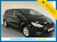 USED 2017 17 FORD S-MAX 2.0 TITANIUM TDCI 5d 177 BHP EURO 6 - FULL SERVICE HISTORY - ONE OWNER - PARKING SENSORS - BLUETOOTH - AIR CON - STOP/START