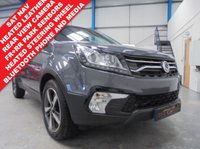 """USED 2017 17 SSANGYONG KORANDO 2.2 ELX 5d AUTO 176 BHP 1 Owner with Low Miles, Heated Leather Seats and Steering Wheel, Satellite Navigation, Bluetooth Phone and Media Streaming, Front and Rear Parking Sensors with Rear Camera, Auto Lights and Wipers, Xenons with LED Surrounds, Cruise/Climate Control, Power Fold Mirrors, Remote Central Locking with 2 Keys, 18"""" Diamond Cut Alloys"""