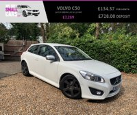 USED 2012 12 VOLVO C30 1.6 D2 R-DESIGN LUX 3d 113 BHP 1 OWNER FULL SERVICE HISTORY FULL LEATHER FACTORY COLOUR SAT NAV