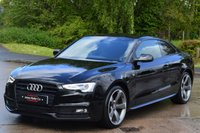 USED 2014 64 AUDI A5 3.0 TDI QUATTRO BLACK EDITION 2d AUTO 245 BHP PAN ROOF ***FULL LEATHER*** ***SATELLITE NAVIGATION*** ***PANORAMIC ROOF***