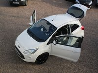 USED 2016 16 FORD KA 1.2 ZETEC WHITE EDITION 3d 69 BHP LOW MILEAGE ONLY 16K, BLUETOOTH, AIR CONDITIONING, BLACK ALLOYS, FULL SERVICE HISTORY, MOT TILL MARCH 2020 NO ADVISORIES, HPI CLEAR, 2 KEYS