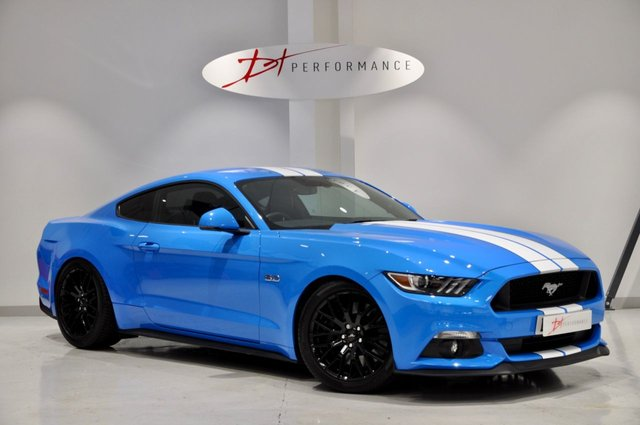 2017 67 FORD MUSTANG 5.0 GT 2d 410 BHP GRABBER BLUE MANUAL