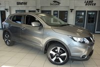 USED 2016 16 NISSAN QASHQAI 1.5 N-CONNECTA DCI 5d 108 BHP FINISHED IN STUNNING METALLIC GREY WITH CLOTH SEATS + FULL MAIN DEALER SERVICE HISTORY + SATELLITE NAVIGATION + 18 INCH DIAMOND CUT ALLOYS + REVERSE CAMERA + £20 ROAD TAX + BLUETOOTH + DAB RADIO + CRUISE CONTROL + PRIVACY GLASS + AIR CONDITIONING